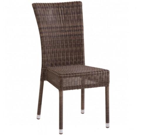 Chaise de jardin OUTDOOR Collection ISABELLE en résine Poivre