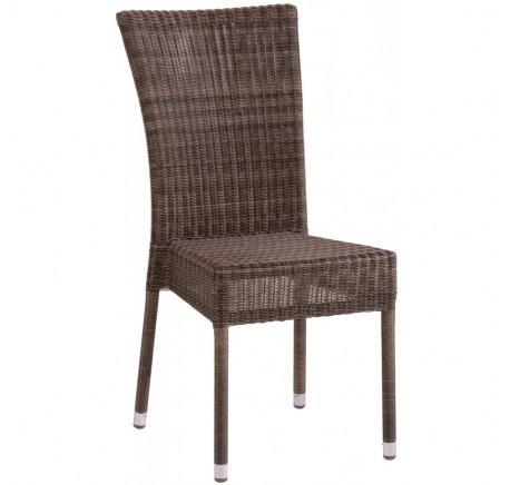 Chaise de jardin OUTDOOR Collection ISABELLE en résine Poivre - Mobilier de jardin - Lecomptoirdesauthentics