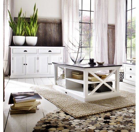 Table Basse Bois Blanc Collection LEIRFJORD Contrast