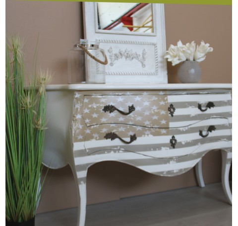 Commode Bois Blanc Collection AMERICA