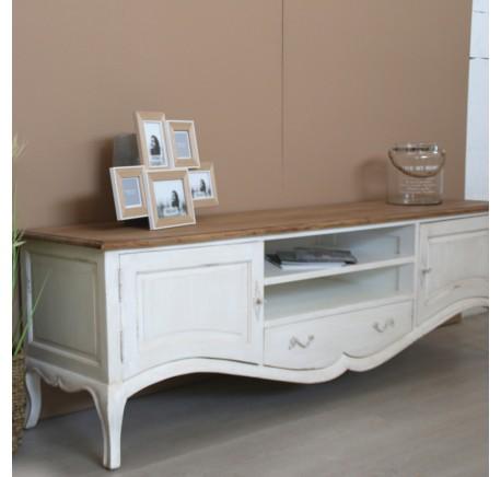 Meuble TV Collection CHAMBORD en bois blanc