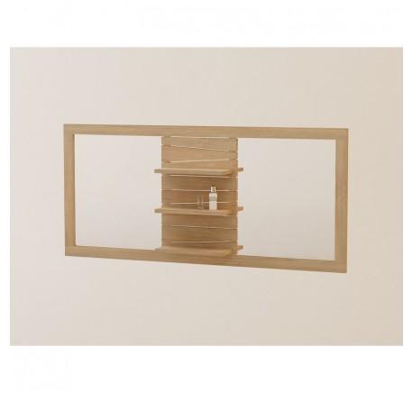 Miroir de Salle de Bain TECK Massif TIMARE Double - Mobilier de salle de bain - Meubles bois - Lecomptoirdesauthentics