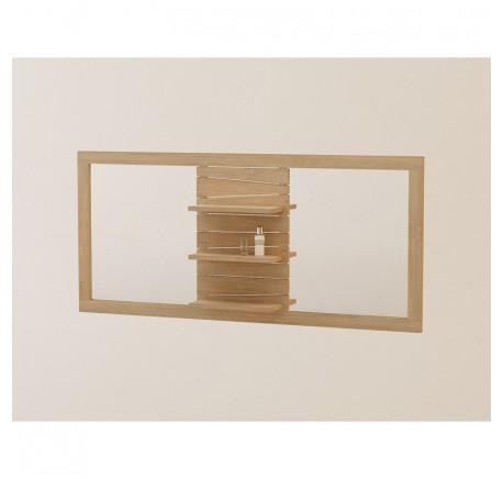 Miroir de Salle de Bain TECK Massif TIMARE Double - Salle de bain - Meubles - Lecomptoirdesauthentics