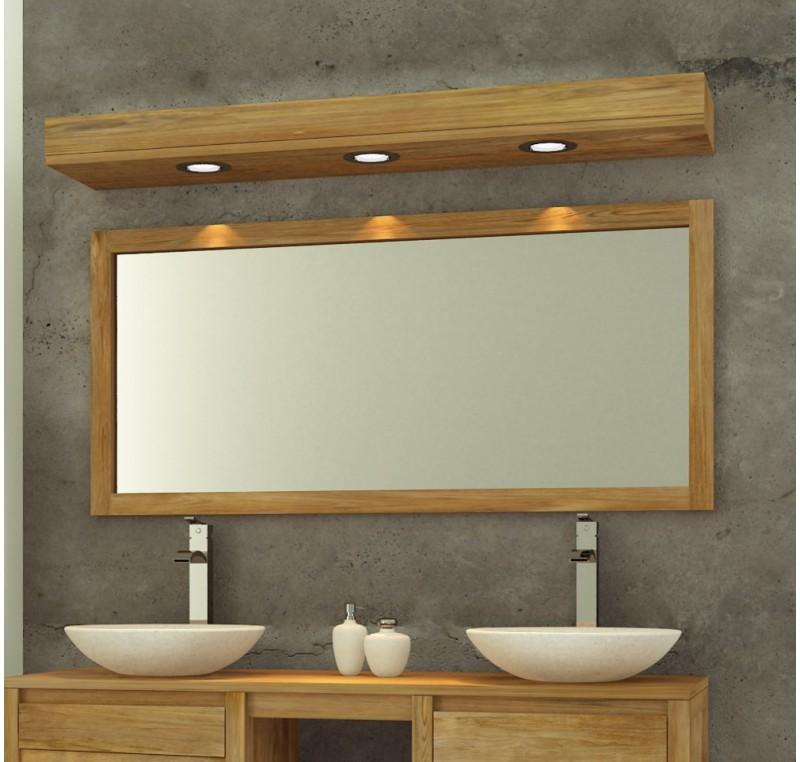 Miroir De Salle De Bain TECK Massif 140 X 70 Mobilier De
