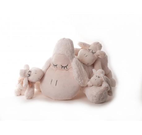 Peluche Mouton beige ultra doux 18 cm - Peluche, doudou - Lecomptoirdesauthentics