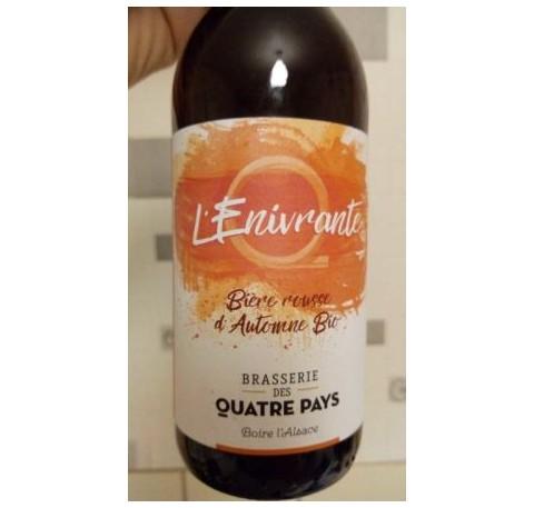 Bière QUATRE PAYS Enivrante Automne Rousse Bio