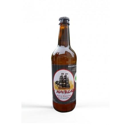 Bière LA NARCOSE La Corsaire blanche Bio - Bière Artisanale - Lecomptoirdesauthentics