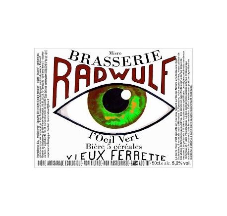 Bière RADWULF Oeil Vert - Bière Artisanale - Lecomptoirdesauthentics