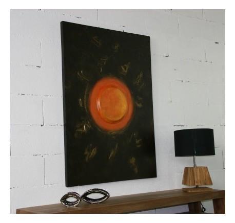Toile ART SOLEIL MINIMALISTE Peint à la main - Cadre - Lecomptoirdesauthentics