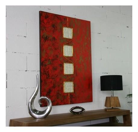 Toile ART MINIMALISTE Peint à la Main 58 - Cadre - Lecomptoirdesauthentics