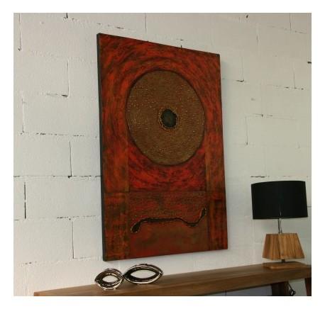 Toile ART MINIMALISTE Peint à la Main 103 - Cadre - Lecomptoirdesauthentics