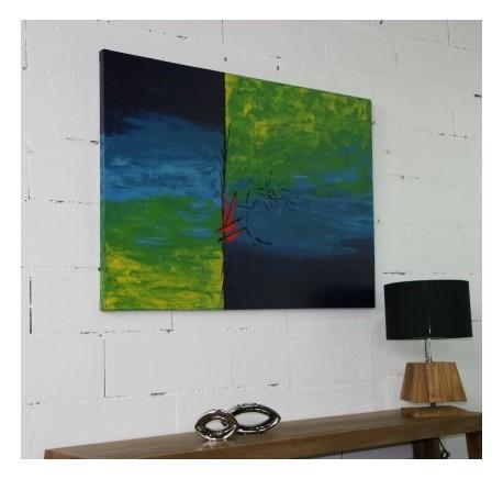 Toile ART MINIMALISTE Peint à la main - Cadre, miroir, tableau - Objet déco Maison - Lecomptoirdesauthentics