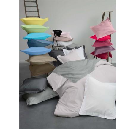 Drap housse 160/200 SYLVIE THIRIEZ en percale coloris Blanc Cassé FARINE - Linge de maison - Lecomptoirdesauthentics