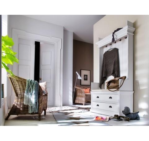 Porte manteaux Armoire bois blanc Leirfjord