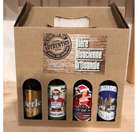 Pack de 4 Bières Artisanales de NOEL Alsace