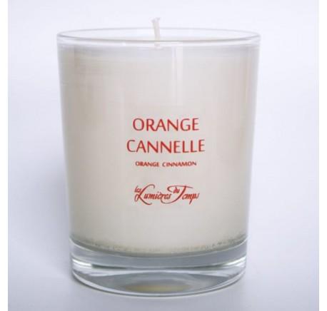 Bougie Végétale 90gr Orange Cannelle - LES LUMIERES DU TEMPS  - Bougie, senteur, bien-être - Lecomptoirdesauthentics