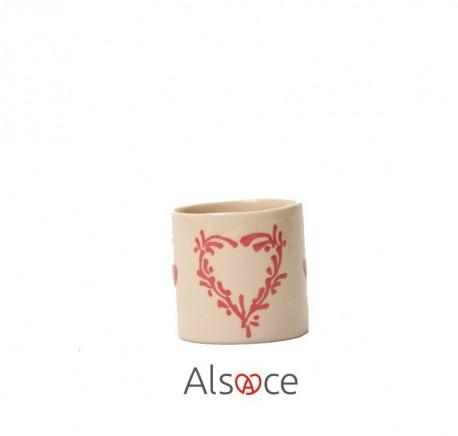 Tasse Expresso Taupe Poterie Artisanale ALSACE - Vaisselle - Lecomptoirdesauthentics