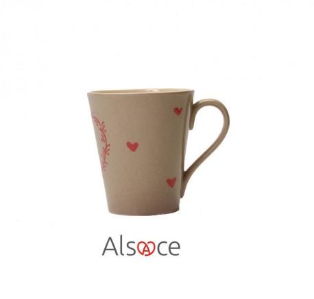 MUG Tasse Taupe Poterie Artisanale ALSACE - Vaisselle - Lecomptoirdesauthentics