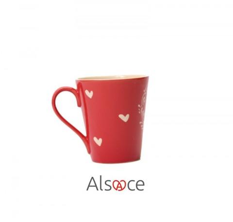 MUG Tasse Rouge Poterie Artisanale ALSACE