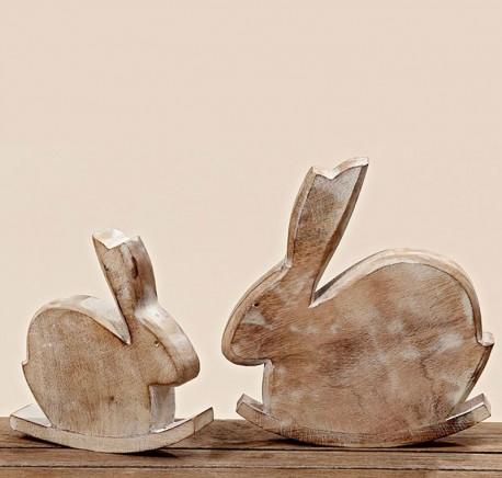 Petit lapin à bascule en bois - Objets déco maison - Lecomptoirdesauthentics