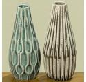 Set 2 Vases LENJA en Grès H23cm