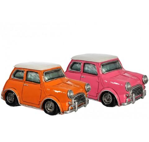 Tirelire Vintage Mini voiture Rose