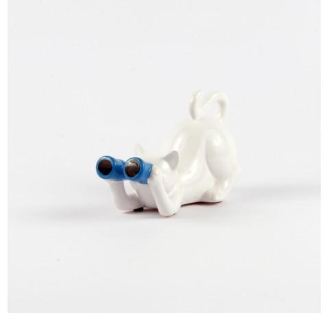 CHAT Jumelles Bleu ARTY 17 cm