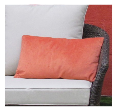 Coussin Rectangle VELOURS Orange 50X30 - Coussins - Lecomptoirdesauthentics