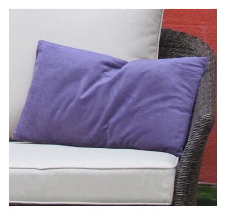 Coussin Rectangle VELOURS Violet 50X30 - Coussins - Lecomptoirdesauthentics