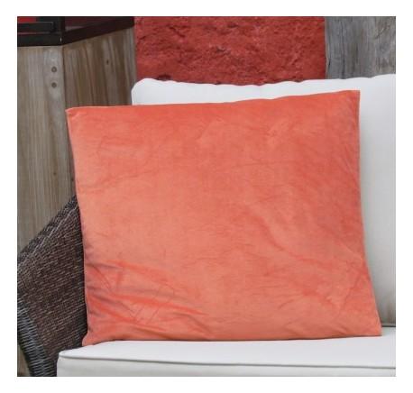 Coussin Carré VELOURS Orange 45x45 - Coussins - Lecomptoirdesauthentics