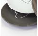 Assiette à dessert motif coeur Gris - Vaisselle - Lecomptoirdesauthentics