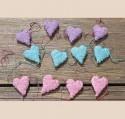 Guirlande feutrine cœur bleu Objet de décoration
