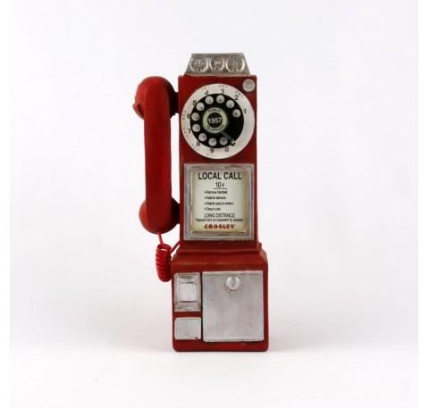 Figurine TELEPHONE VINTAGE rouge