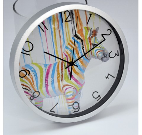 Horloge Murale Pop Art ZEBRE