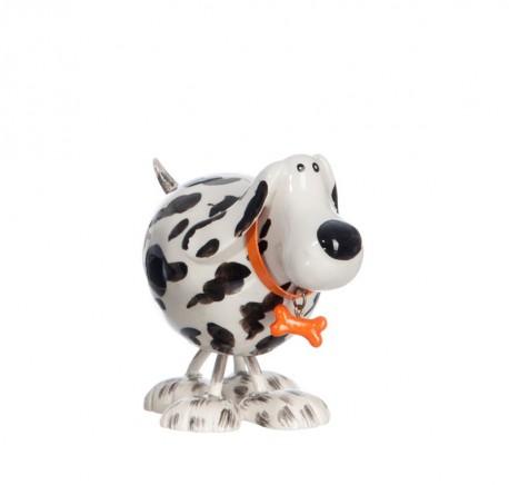 Statuette Dalmatien déco petit 12 cm collier orange. - Figurines, statuettes - Lecomptoirdesauthentics