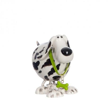 Statuette Dalmatien déco petit 12 cm collier vert. - Figurines, statuettes - Lecomptoirdesauthentics