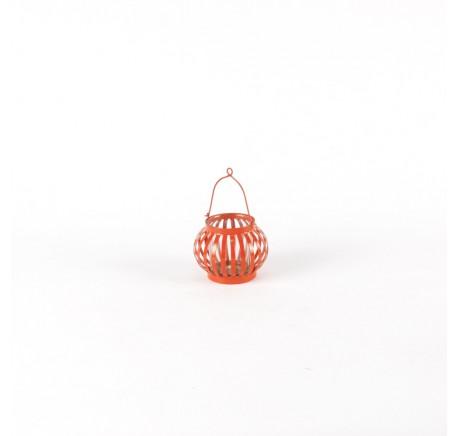 Mini Lanterne Terrasse Orange Foncé - Lanterne - Lecomptoirdesauthentics
