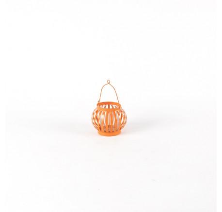 Mini Lanterne Terrasse Orange Clair - Lanterne - Lecomptoirdesauthentics