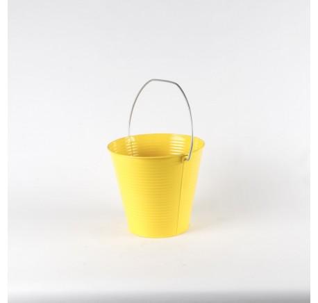 PETIT CACHE POT A PLANTE LAQUE JAUNE - Vase - Lecomptoirdesauthentics