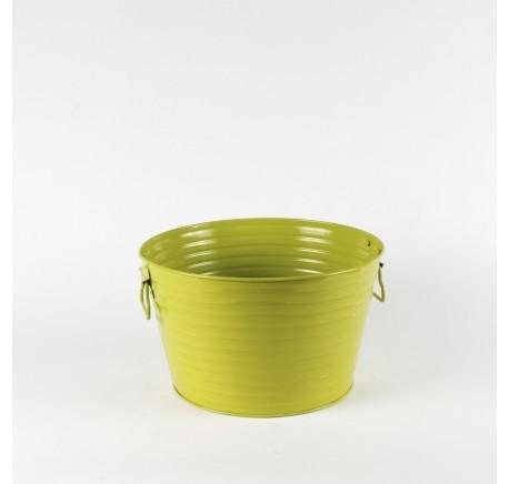 GRAND POT A PLANTE LAQUE VERT - Vase - Lecomptoirdesauthentics