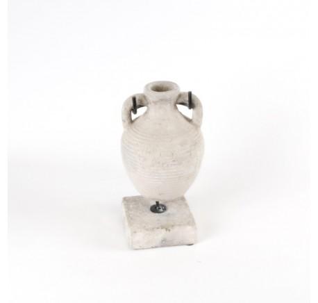 Amphore vase avec support ciment - Vase - Lecomptoirdesauthentics