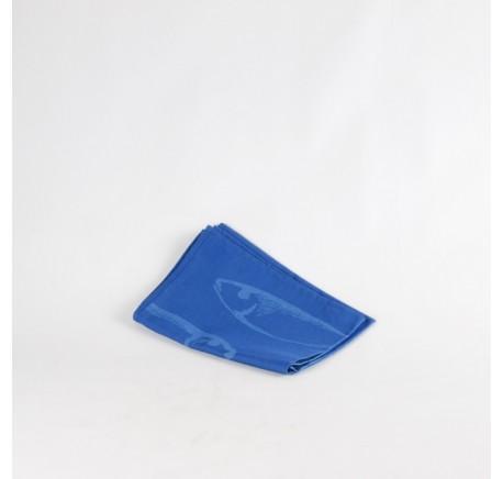 Torchon Jacquard Bleu Linge SYLVIE THIRIEZ Collection JORGEN. - Linge cuisine - Lecomptoirdesauthentics
