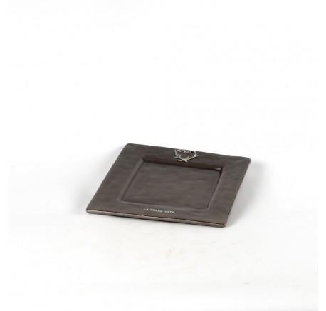 Petite assiette céramique anthracite DOLCEVITA. - Vaisselle - Lecomptoirdesauthentics