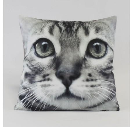 Coussin tête de chat tigré - Coussins - Lecomptoirdesauthentics