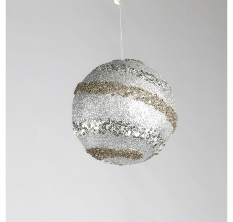Boule de Noël Argentée - Décoration de Noël  - Lecomptoirdesauthentics