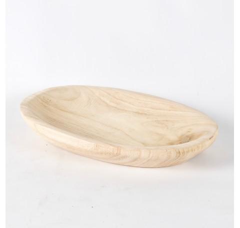 Coupe ovale en bois Paulownia Long. 28,5 cm