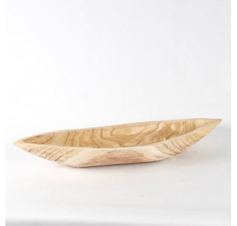 Coupe ovale en bois Paulownia Long. 72 cm