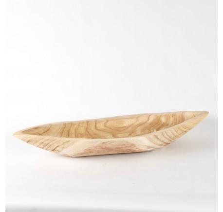 Coupe ovale en bois Paulownia Long. 72 cm -  - Lecomptoirdesauthentics