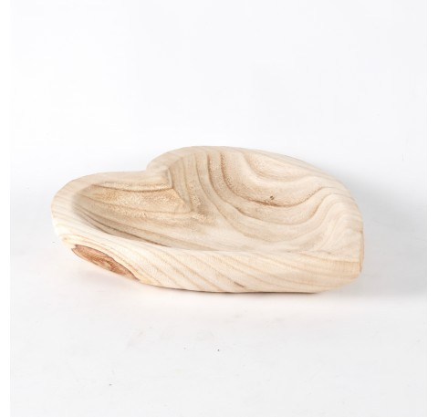 Plateau coeur en bois Paulownia Long. 27 cm
