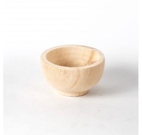 Coupe en bois Paulownia Diam. 13 cm